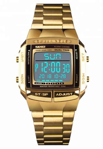 Digitec gold Skmei - Jam Tangan Pria - Gold - Stainless Steel - 1381-E 04FBDACF6C3F37GS_1