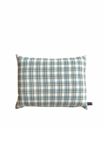 Stylodeco Cushion Cover, Turquoise Checks A0D42HL7654E8DGS_1