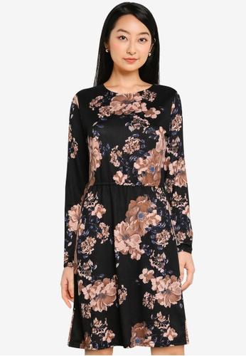 ONLY black Elcos Emma Long Sleeves Elastic Dress DF726AA7C5C677GS_1
