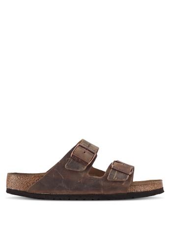 Birkenstock brown Arizona Sandals 9A0C5SH5726A2DGS_1