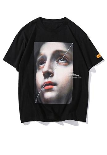 HAPPY FRIDAYS Figure Printed Short Sleeve T-shirt UP906 39963AA499F334GS_1
