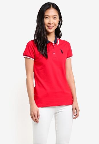BGM POLO red Printed Polo Shirt BG646AA0S0JPMY_1