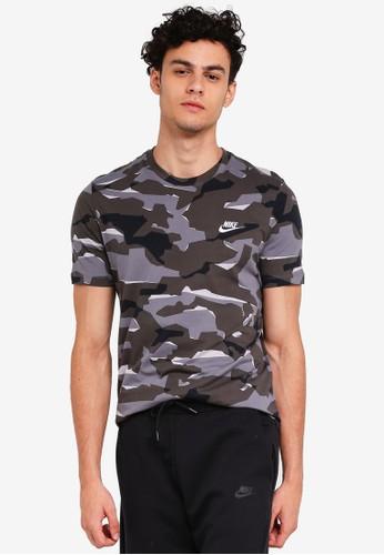 Nike grey As M Nsw Tee Camo Pack 1 As 001D9AAA3DE0FAGS_1