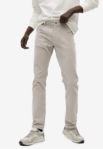 Mango Man grey Denim-Effect Corduroy Trousers 7188EAA0BD4552GS_1