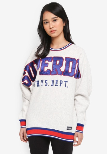 Superdry grey Sd Game Day Sweatshirt FD536AA0B02907GS_1