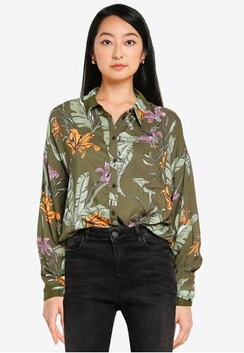 ONLY green Palm Life Shirt 9F10DAA6FFB7FDGS_1