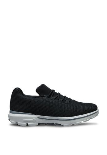 UniqTee 黑色 輕巧綁帶運動鞋 DA0E1SHCF950CAGS_1