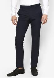 Topman blue Navy Stretch Skinny Trousers TO413AA50GDXMY_1