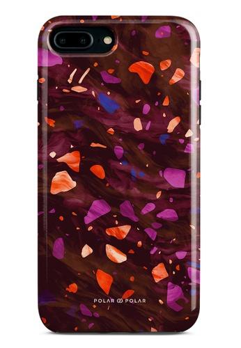 Polar Polar red Paprika Terrazzo Gem Dual-Layer Tough Case Glossy For iPhone 8 Plus/7 Plus 5229EAC805590FGS_1