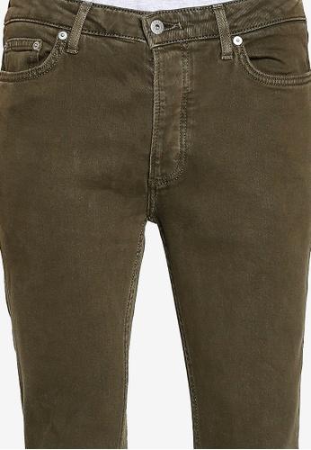 Topman green Khaki Stretch Skinny Jeans 4BBBDAAC55A379GS_1