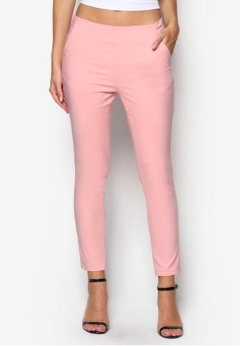 側拉鍊彩色九分褲, esprit台灣服飾, 長褲及內搭褲