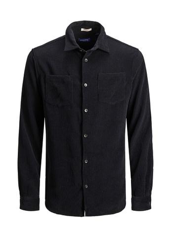 Jack & Jones navy Keaton Corduroy Long Sleeves Shirt BE060KA34DDBC0GS_1