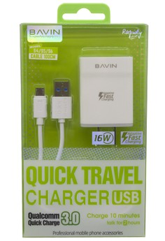 Quick Travel Charger 3.0 For Android