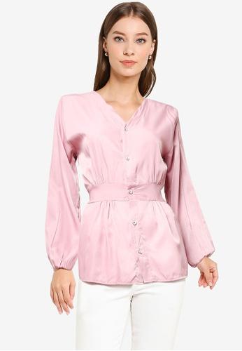 BYN pink Muslimah Long Sleeve Top 86741AA1F1AB5CGS_1