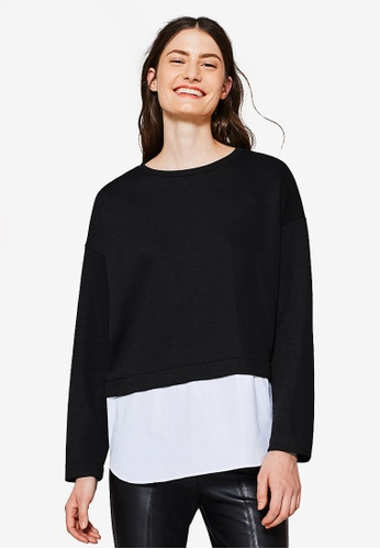 Esprit black Long Sleeve Sweatshirt ES374AA0S8UFMY_1