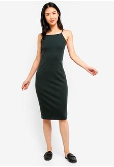 c2ac054288 Buy WALG Plunge Midi Dress With Frill Sleeves Online on ZALORA Singapore