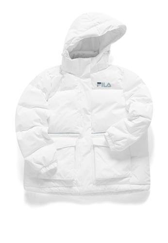 FILA white FUSION FILA Logo Hooded Down Jacket 7A0FBAA4F9DD12GS_1