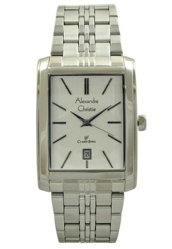 Alexandre Christie silver Alexandre Christie Jam Tangan Pria - Silver White  - Stainless Steel - 8408 1db0b0079a