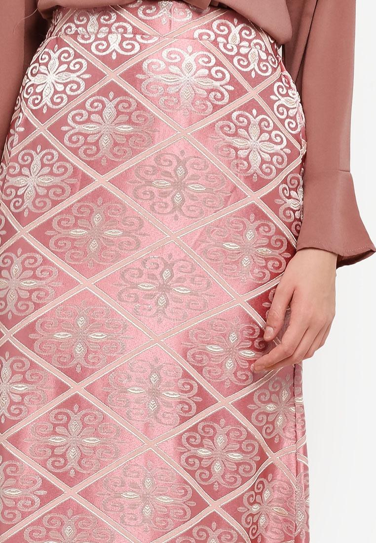 BYN Songket BYN BYN Pink Songket Pink Skirt Songket Skirt wHCPpEq