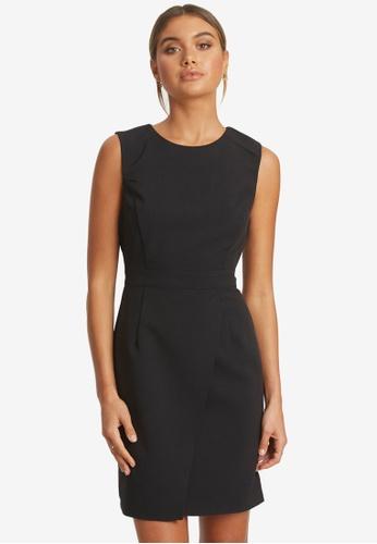REUX black Laurie Dress F64F3AA1AD0775GS_1