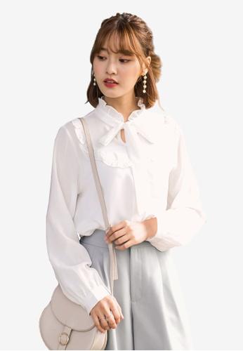 Tokichoi white Victorian Blouse 29A96AA7ACC251GS_1