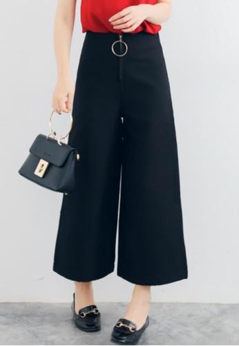 Shopsfashion black Wide Legged Pants in Black SH656AA38ZNPSG_1
