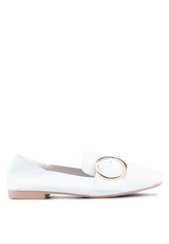 Twenty Eight Shoes 白色 休閒扣環細節樂福鞋 6D9C6SH662F81CGS_1