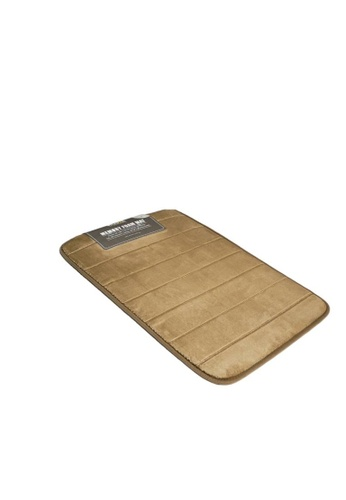 HOUZE HOUZE - Memory Foam Mat (Dim: 60x40x1.2cm) - Cappuccino 6624BHLAFA8D81GS_1