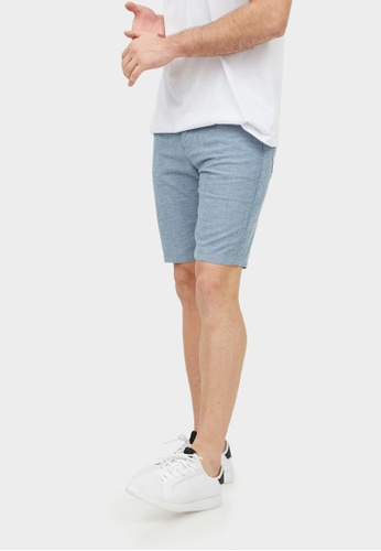 2nd Edition grey Chambray Shorts in Stone Gray 2N610AA0F59MSG_1