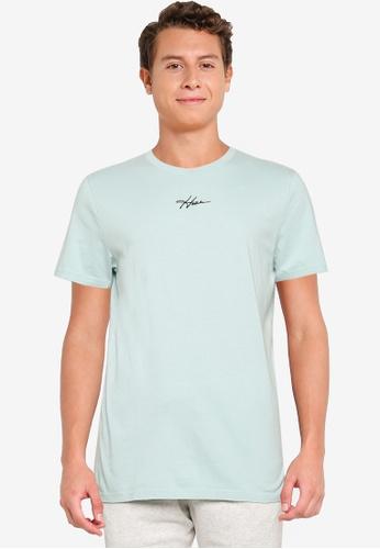 Hollister green Crew Solid T-Shirt A7D70AA07C5140GS_1