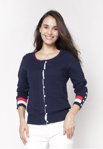 nicole blue and navy Knitted Cardigan 65F5CAAF820D53GS_1