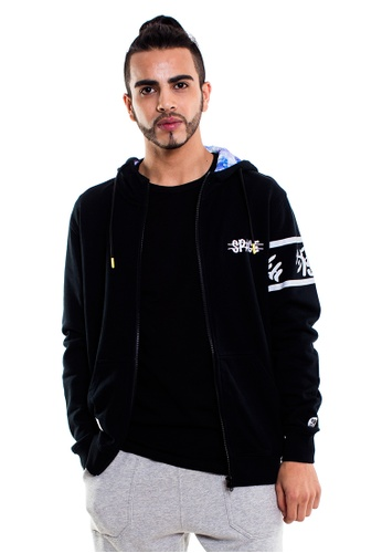 Reoparudo black RPD Space Graphic Edition Zip Hoodie (Black) RE413AA0GZKOSG_1