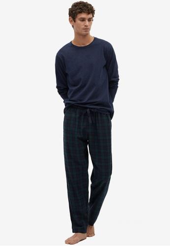 Mango Man blue Cotton Pyjama Pack BC858AA7CA5C77GS_1