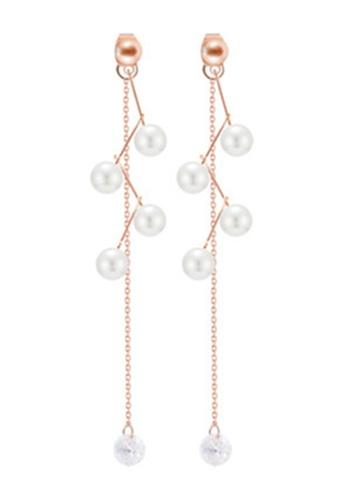 YOUNIQ gold YOUNIQ Basic Korean Pearl Bloom Rosegold Long Earring D7EB3AC368E262GS_1