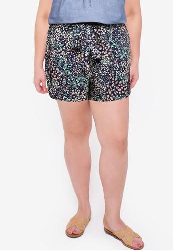 Vero Moda navy Plus Size Hannah High Waist Shorts EEC6BAA2F91AE3GS_1