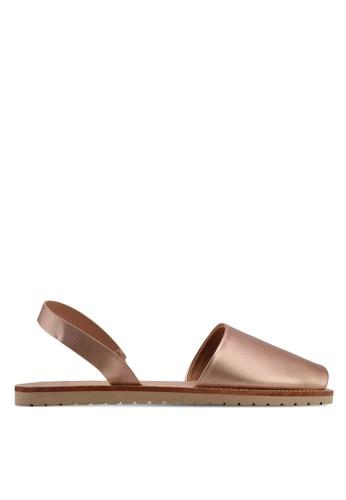 Velvet gold Metallic Sandals 5E82DSH0BB81E4GS_1
