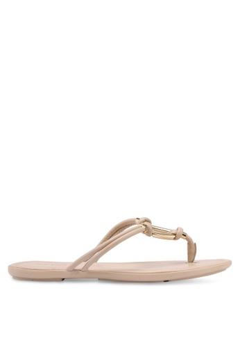 ALDO beige Kederravia Flat Sandals 2882BSH05E7C20GS_1