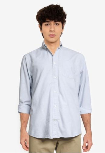 GAP blue Standard Fit Oxford Shirt 04C33AA36DC81CGS_1