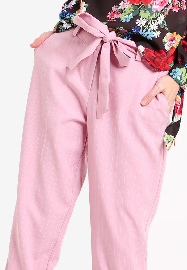 Trousers Dorothy Stripe Tapered Pink Pink Perkins qxxw8OCS