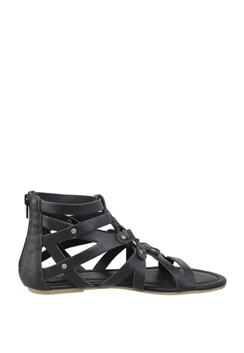 London Rag black London Rag Women's Flat Gladiator Sandals SH1173 LO360SH0GPX0SG_1