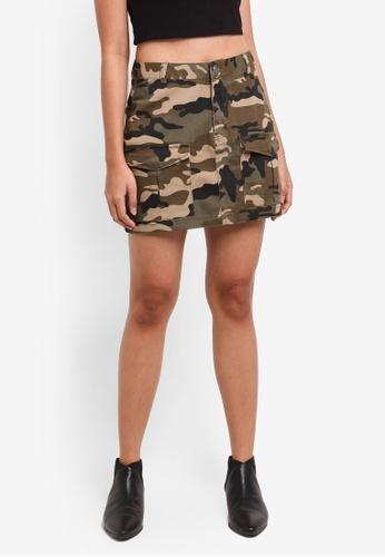 Supre green Cargo Mini Skirt 0D75CAA01229F4GS_1