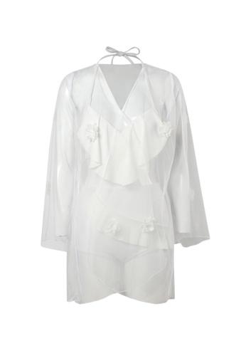 YG Fitness white (3PCS) Sexy Gauze Bikini Swimsuit 57781US0380E06GS_1