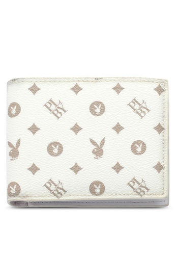 Playboy white RFID Blocking Wallet 4EB33AC822AB9DGS_1