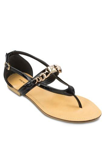 Bianca 金飾夾腳包zalora退貨跟涼鞋, 女鞋, 鞋