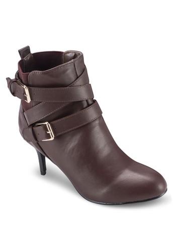 雙扣環高跟踝靴esprit 香港, 女鞋, 靴子