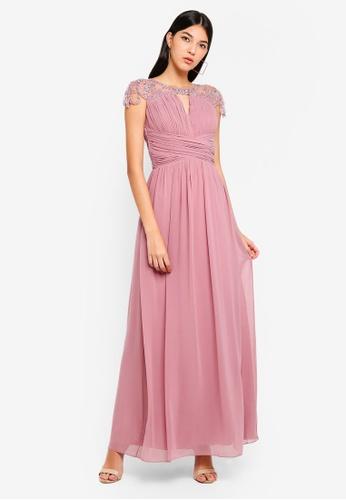 Little Mistress pink Blush Keyhole Maxi Dress CCEB5AAAFEBB1BGS_1