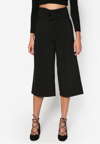 褶飾五分寬管褲, 服飾, esprit官網長褲及內搭褲