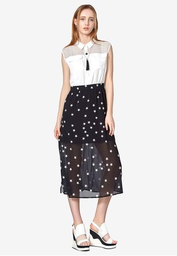 Hopeshow white Printed Faux 2-piece Dress FE510AA6F4ACFAGS_1