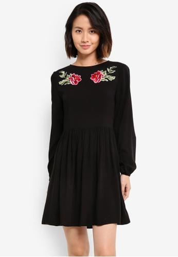 ZALORA black Embroidered Boho Dress 6DBE0ZZ8518F1CGS_1