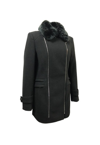 Universal Traveller black Universal Traveller Double Breasted Coat - TCW 9252 9C590AA42F244CGS_1